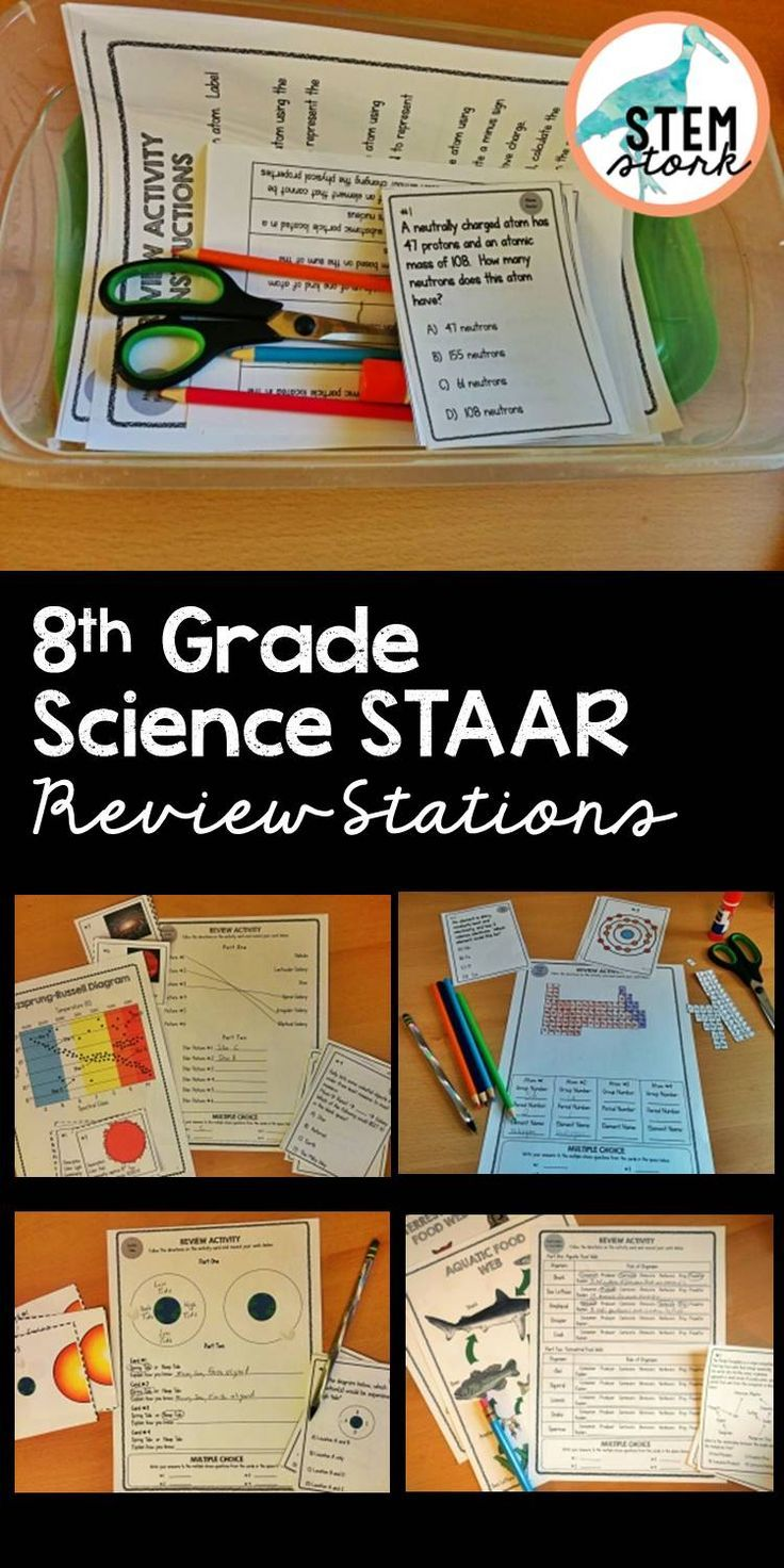 Ditch the boring test review and help your students prepare for the 8th Grade Science STAAR with these Science Review Stations.  Each station directly addresses a science TEKS by having students practice with vocabulary matching, a CLOZE passage, a hands-on activity, and multiple choice questions.  Try the first station FREE to see if these stations will work in your classroom.