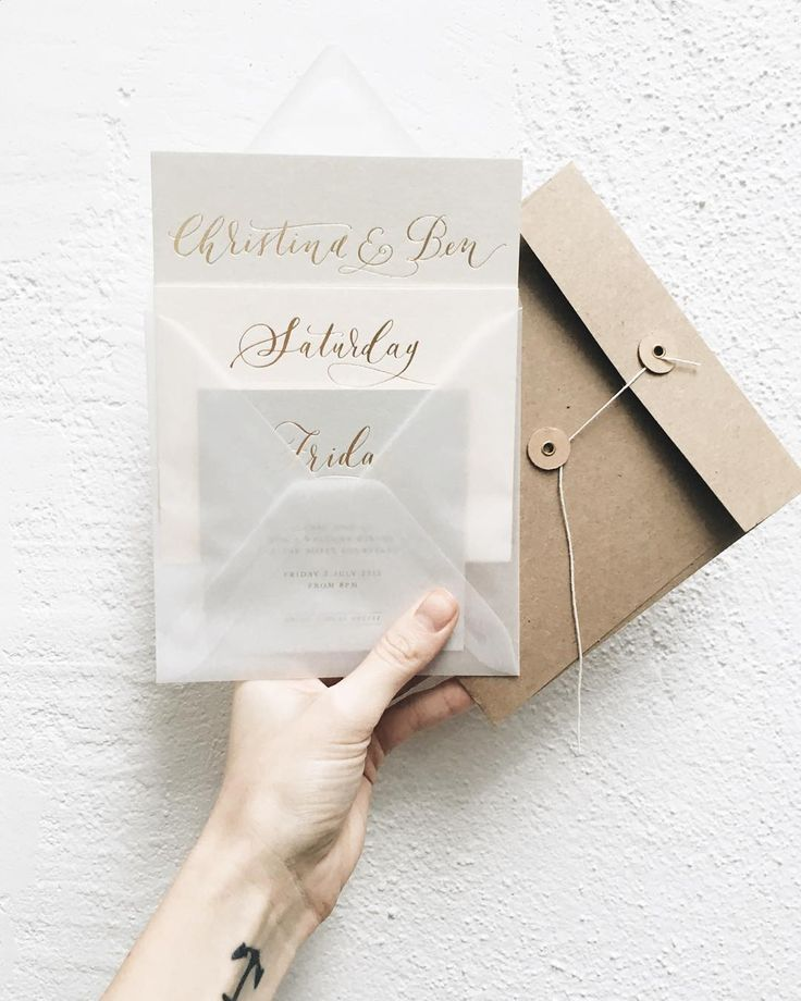 Lamplighter London - Modern Calligraphy Wedding Invitations