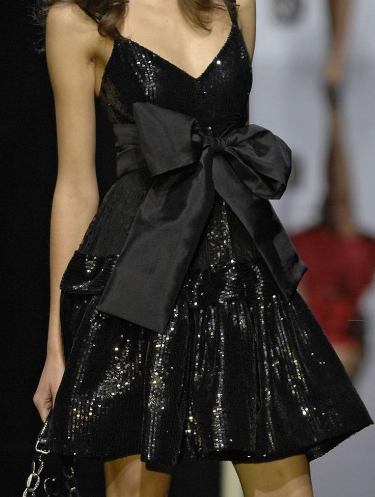 Elie Saab adorable black dress: Eliesaab, Fashion, Elie Saab, Style, Clothing, Parties Dresses, Beautiful, Little Black Dresses, Big Bows