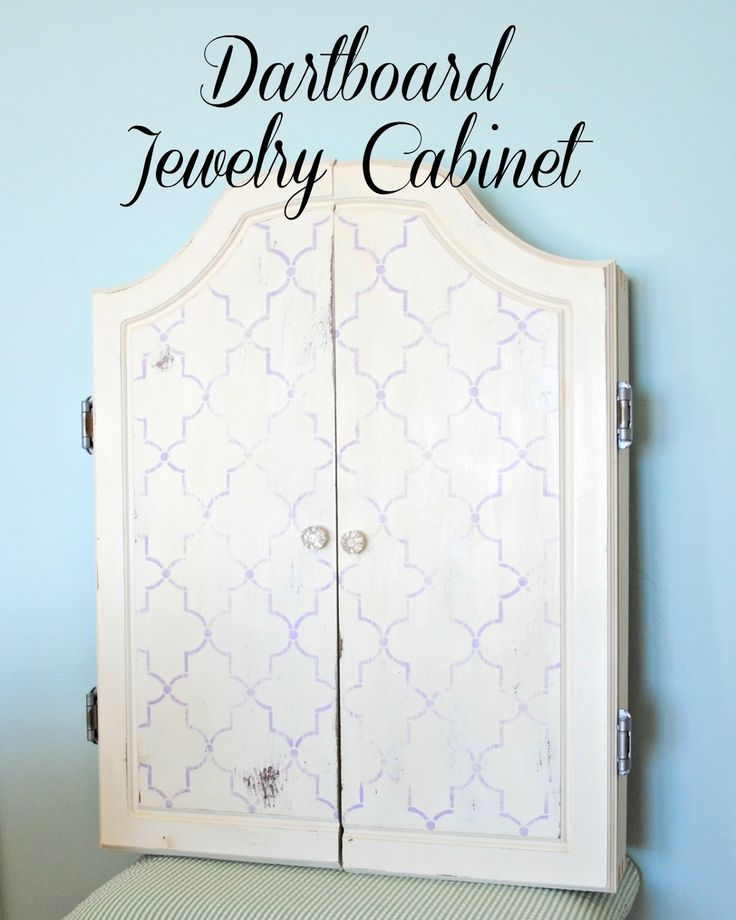 Dartboard Jewelry Cabinet | So You Think You're Crafty
