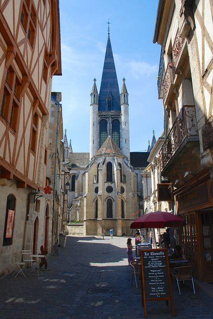 Église Notre-Dame, Rue de la Chouette, Dijon, Côte-d'Or, France