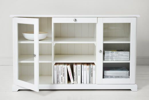 "$350 Width: 57 1/8 ""Depth: 18 7/8 "" Height: 34 1/4 "" IKEA Cabinets & sideboards"