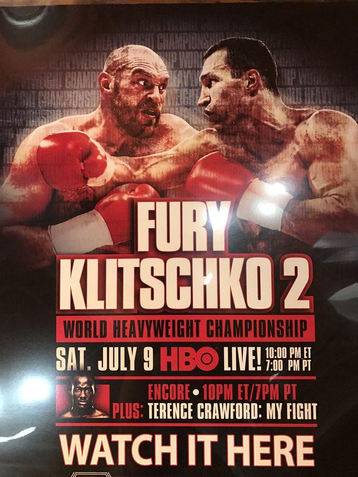 Boxing poster Fury vs. Klitschko 2, HBO PPV