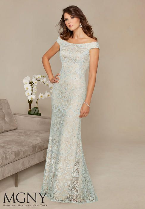 Fancy Evening Gowns and Mother of the Bride Dresses by Morilee Beaded Venice Lace Evening Gown Mother of the Bride Dress