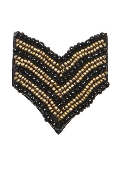 Broche brodée de perles  DORE by SUNCOO