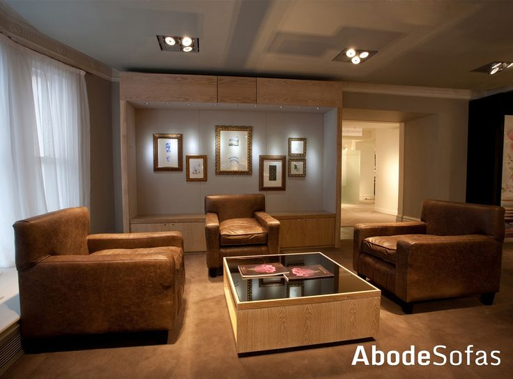 Going for a trip to London and braving the busy but wonderful place named Harrods then go check out the Wedgewood Department where you will find our leather chairs | Abode Sofas