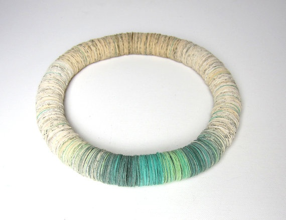 A wearable wreath...(necklace).  Love the gradations of color.