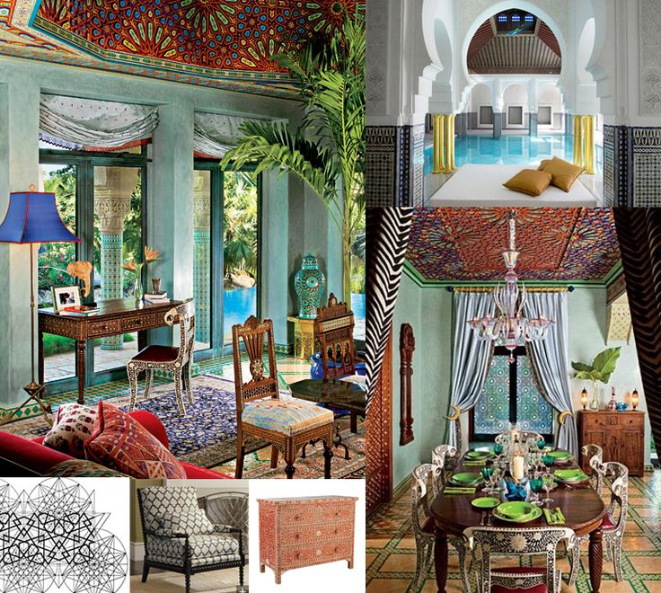 A Blend Of Many Different Styles From All Over The World Can Be Found In Moroccan