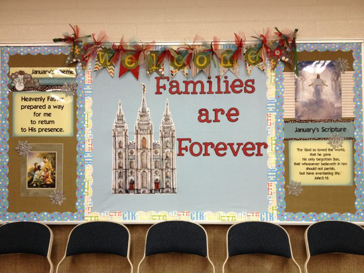 2014 January LDS Primary Theme Bulletin Board