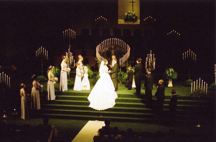 41 Best Christmas Wedding Ceremony Set-Up Images On Pinterest