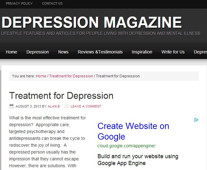 Depression and online dating sites
