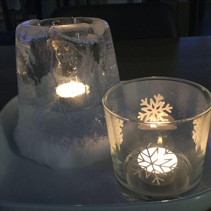 Wohnbrise: Tischdeko, Eislicht