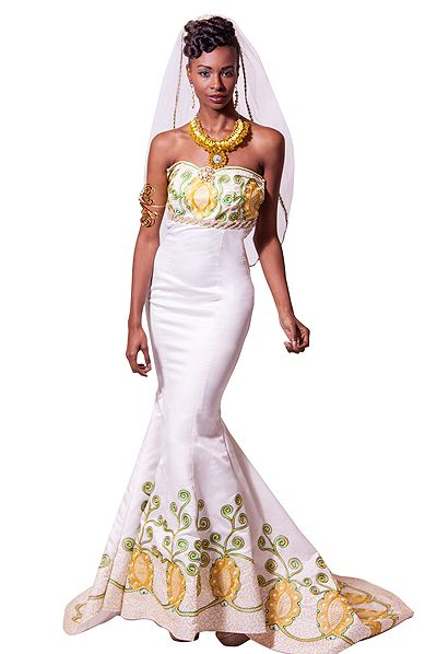 couture wedding gown Queen Amina of Zaria, Nigeria gown