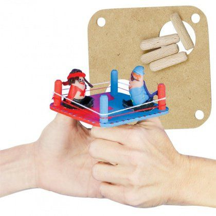 1..2..3..4 I declare a thumb war! Wooden Thumb Wrestling Arena - CleverPatch