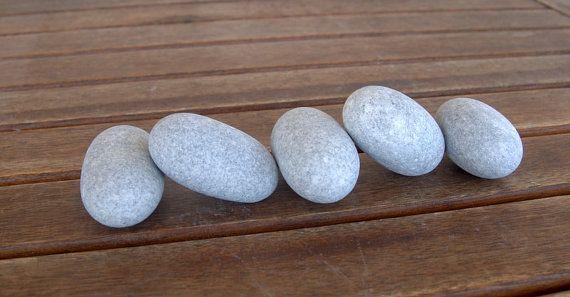 5 Medium Size Oval Egg StonesBeach StonesZen StonesZen