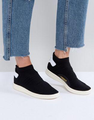 a5fe8be66d8 adidas Originals Black Stan Smith Primeknit Sock Sneakers at asos.com