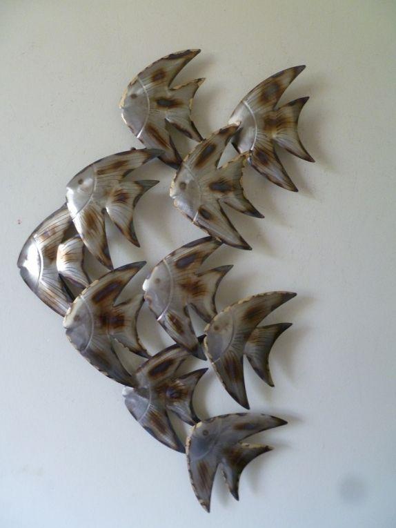 Wanddecoratie metaal Maanvissen