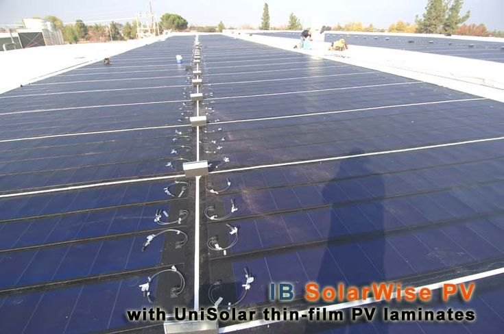 Ib Solarwise Integrated Solar Pv Flat Roofing Systems