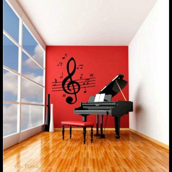 Piano and wall decor http://pinterest.com/cameronpiano