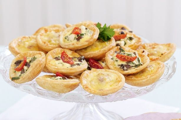 These tasty little quiches make excellent finger food for Christmas entertaining.