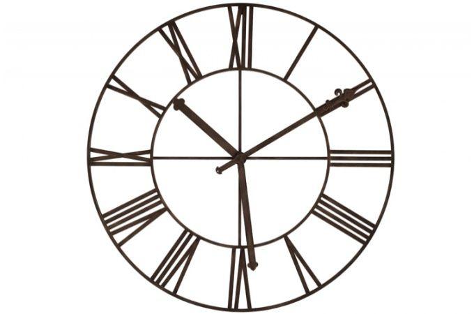 Grande horloge décorative en fer forgé Ira