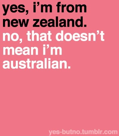 No, that doesn't mean I'm Australian.