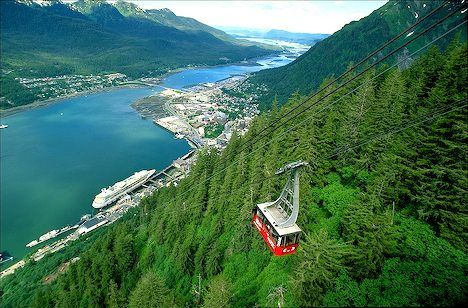 Mt. Roberts Tramway - Juneau, AK (The fee is hefty but the views and attractions at the top are worth it)