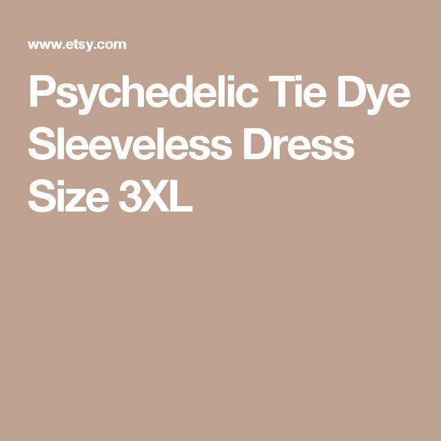 Psychedelic Tie Dye Sleeveless Dress Size 3XL