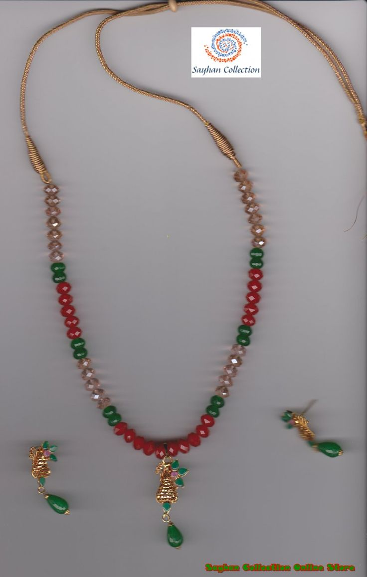 925 Solid Silver Ethnic Ruby,Panna Stone/Gold,Copper,Kundon Color Pendal Set Price: $49.00