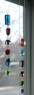 Easy beaded sun catcher instructions, plus many other free ideas. This is an simple rainy-day project!