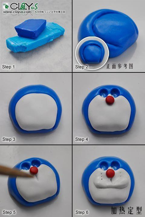 Hướng dẫn nặn Doraemon - Part 1 - Face