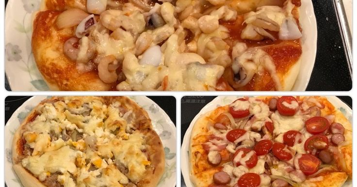 HBでピザ生地作り。3種類の手作りピザ! by クックまいななパパ 【クックパッド】 簡単おいしいみんなのレシピが275万品