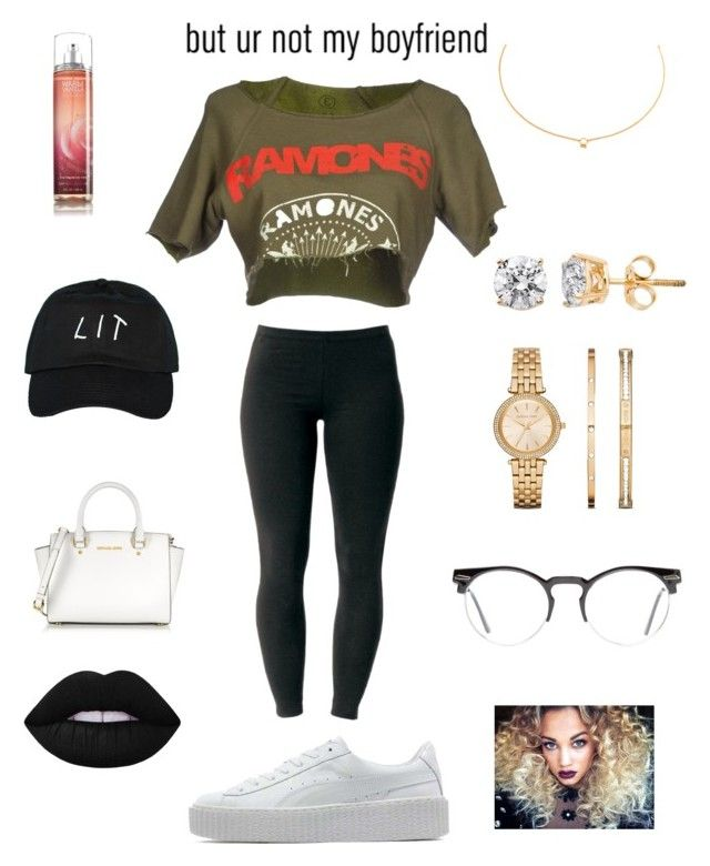 Bigger the better -Jaeehoee by jayylaisha on Polyvore featuring polyvore, fashion, style, Joe Browns, Puma, Michael Kors, Agnes de Verneuil, Spitfire, Lime Crime, AG Adriano Goldschmied and clothing
