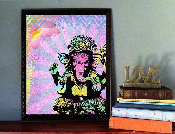 Ganesha Art Print  Inspirational Collage Art  by BrookeMontesArt, $5.00