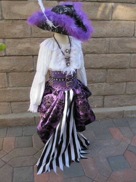 Purple Pirate Princess Costume Original Design 5-8 yrs via Etsy
