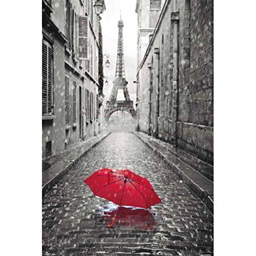 Grupo Erik Editores GPE4860 - Póster Paris Paraguas Rojo, 61 x 91,5 cm - http://comprarparaguas.com/baratos/de-colores/rojo/grupo-erik-editores-gpe4860-poster-paris-paraguas-rojo-61-x-915-cm/
