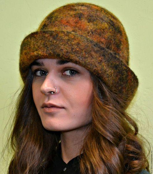 """Шляпы ручной работы. Ярмарка Мастеров - ручная работа. Купить Шляпа """"Осенние краски"""" валяная. Handmade. Рыжий, шляпка валяная"""