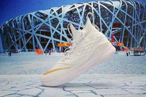 86a63807f17 Mens Nike LeBron 15. 5 Basketball Shoes White Gold