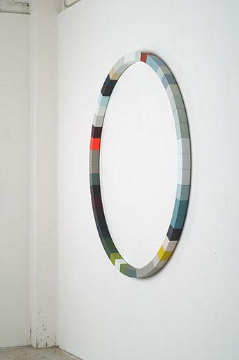 sophie smallhorn  circle1  chemi wood, acrylic paint