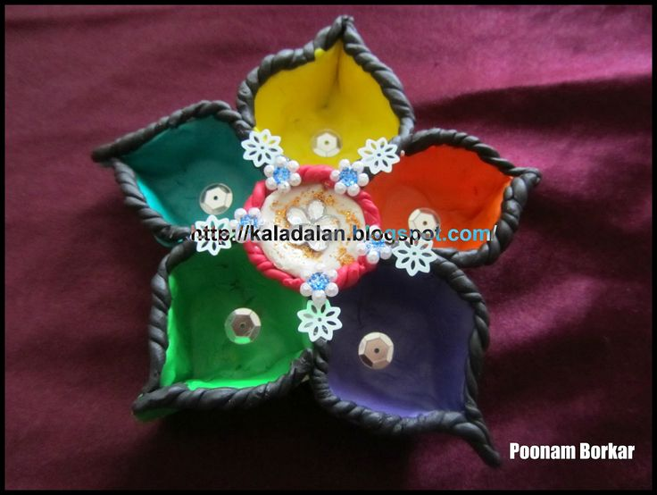 25 best ideas about diwali decoration items on pinterest for Aarti thali decoration with clay