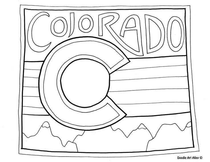 colorado coloring page by doodle art alley coloring pages pinterest coloring  coloring Mountain Coloring Pages  Colorado Coloring Pages