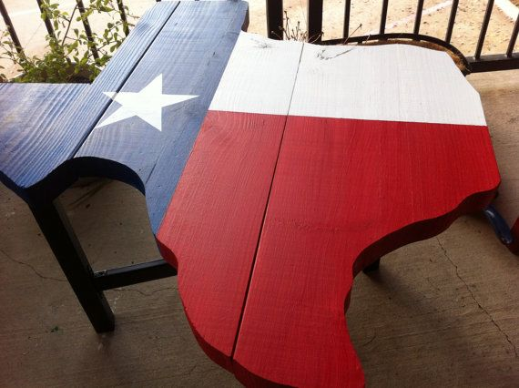 Texas Shaped Coffee or Side Table by Timsfreetime on Etsy, $150.00