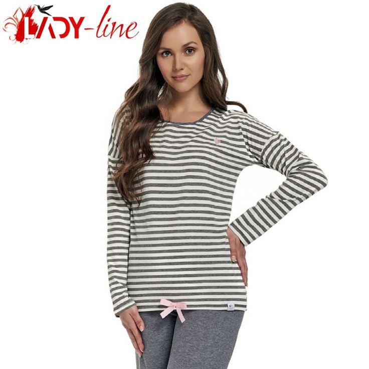 Poze Pijama Dama Maneca/Pantalon Lung, 'Stripes', DN-Nightwear