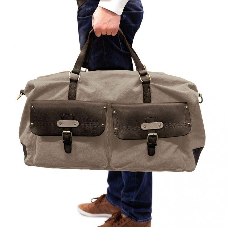 Weekender von DRAKENSBERG - #elegant #Reisen #Reisetasche #Weekender #vintage #luggage #grey #grau #Tasche #bag #Herren #Damen
