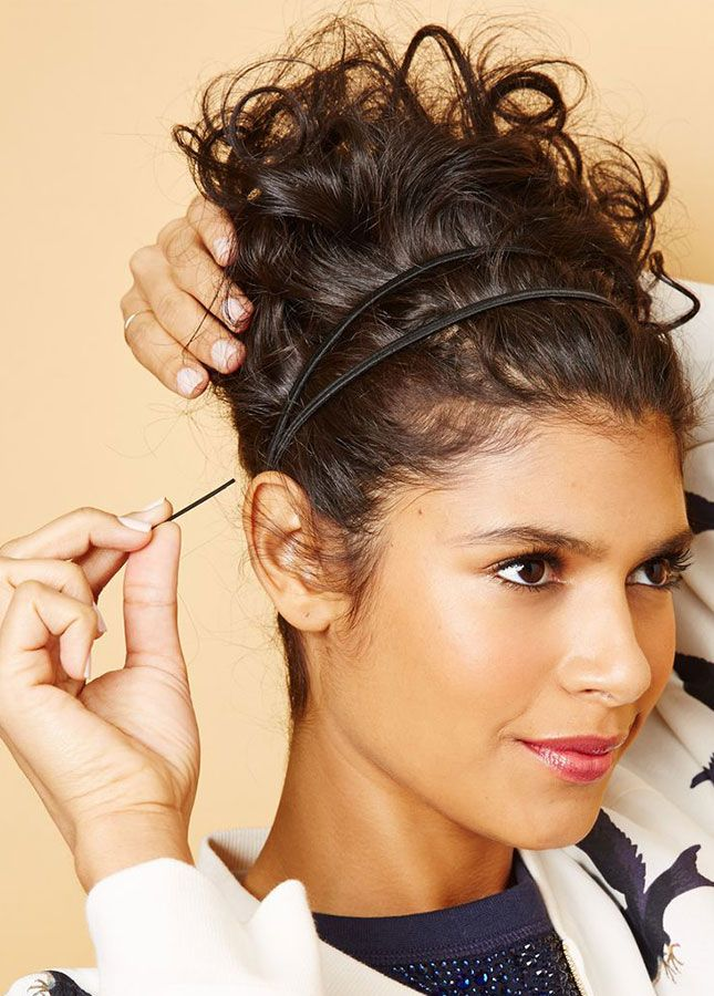 Toss your hair into a messy bun on *extra* humid days.