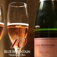Blue Mountain Vineyard and Cellars Advent Calendar #10.  Thanks to John Schreiner for the recent review of our 2009 Brut Rose':84% Pinot Noir and 16% Chardonnay, this wine has a lovely blush hue. The aroma suggests strawberries and apples and this carries through to the creamy palate. The finish is crisp and clean. This wine is so delicious that you probably want to buy it by the magnum. A bottle is not enough. 94.
