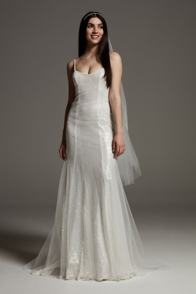 Beige slip dress in Gatsby style sophisticated and elegant. Perfect as a simple wedding dress
