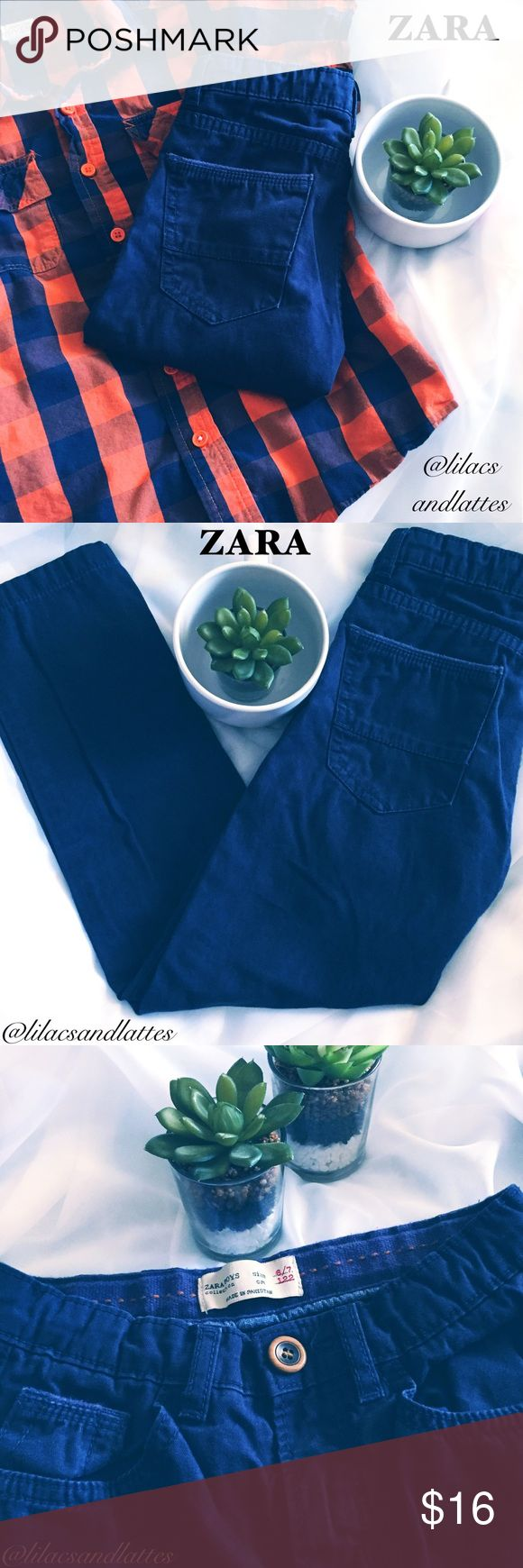 "{Zara} Boys Navy Pants Boys Navy Pants from Zara Boys Collection in EUC, No Flaws!! Excellent Quality!! Size 6/7 with adjustable waistband • 20"" inseam, 8"" rise • Only Reasonable Offers Accepted, please refer to chart in listing photos. No trades. 🛍Bundles of 3 or more listings receive 10% discount!!🛍Thank you👖 Zara Bottoms Casual"