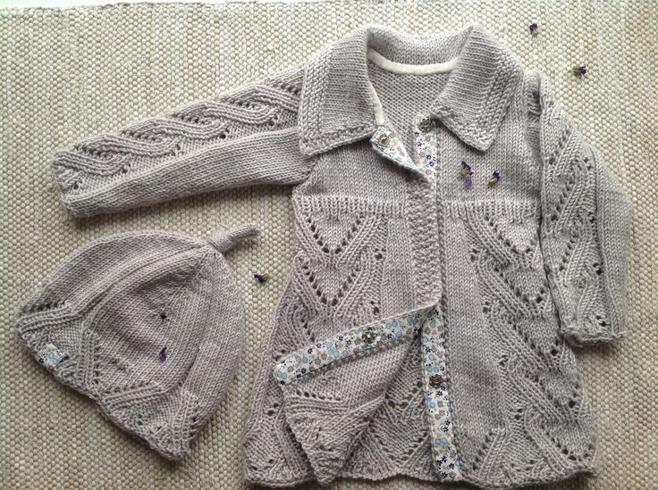 knitted coat for little princess