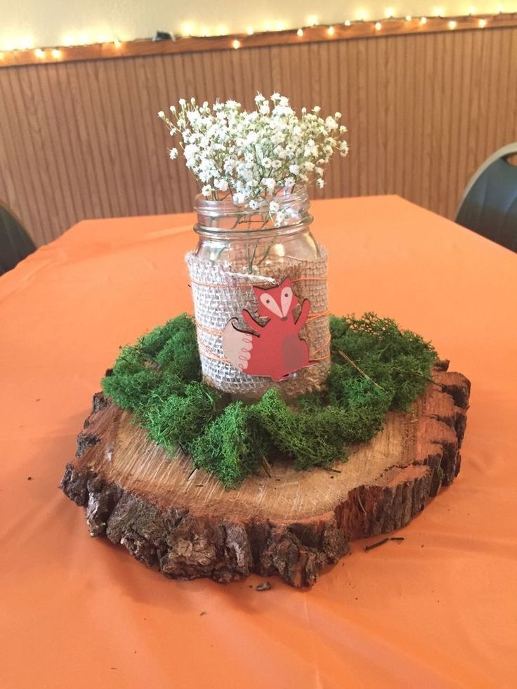 Diy Woodland Table Centerpiece Rustic And Woodlands Baby Shower